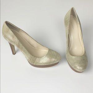 Calvin Klein Kendall Metallic Gold Platform Heel